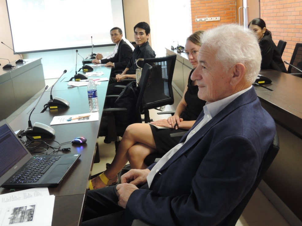 Figure 2 Two-day conference at 401 Room, Mahidol University Learning Center Building, Salaya campus, Thailand