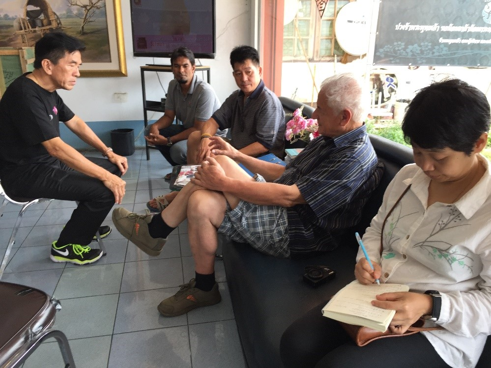 Figure 5 Exchanges with the local stakeholders on the island of Koh Samui was carried out in a form of dialogue.