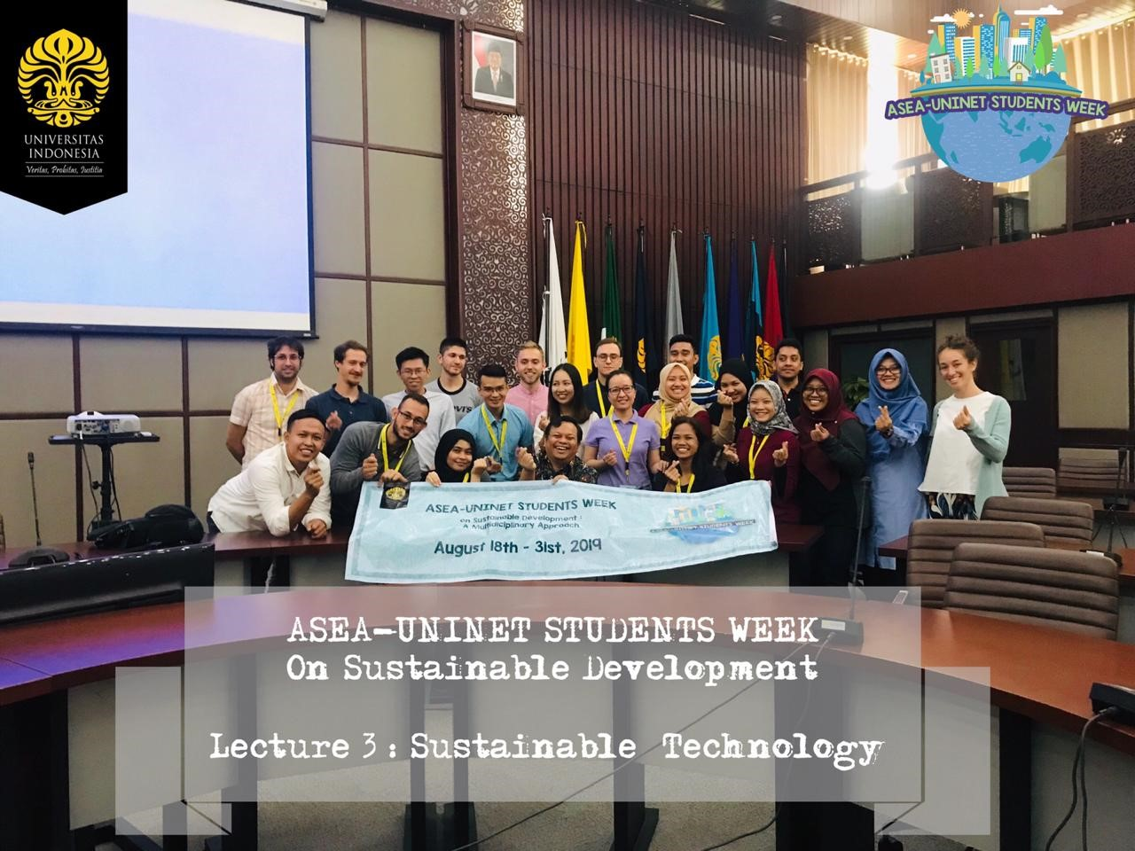 ASEA-UNINET Students Week on Sustainable Development 2019 - Lecutre on Sustainable Technology