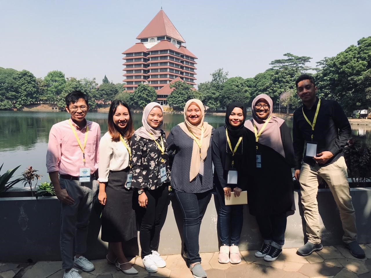 ASEA-UNINET Students Week on Sustainable Development 2019 - Participants on the campus of the University of Indonesia, Depok