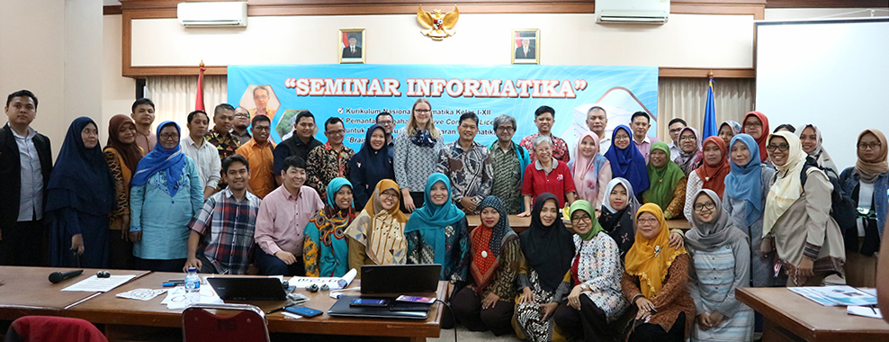 Participants of the Seminar at the Center of Curriculum development and books, Indonesian Ministry of Education in Jakarta, Indonesia