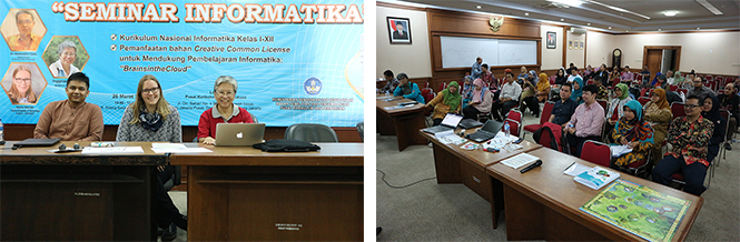 Seminar on new Indonesian Informatics Curriculum and Head in the Clouds Project in Jakarta, Indonesia & Participants