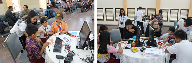 Workshop for elementary school students at IT DEL: IT 101 & Programming Module (MaKey, Makey)