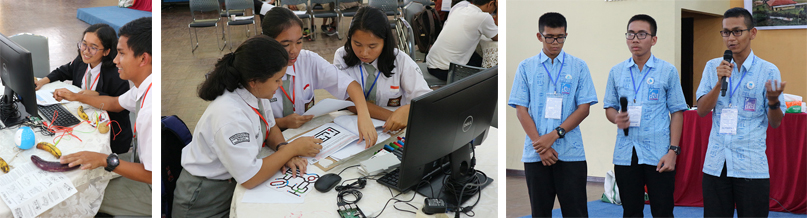 Workshop for junior and senior high school students at IT DEL: Work with the IT 101 & Programming Module (Raspberry Pis, MaKey Makey, Ozobots and presentation of the tasks of the English Module